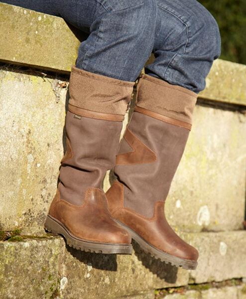 Toggi Colón país botas Oscuro Cobre Gran botas de Invierno Tallas 4 37 & 7 41