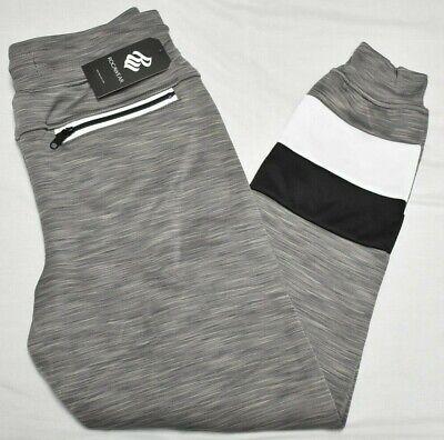 Rocawear Pants Men/'s Kirkstone Logo Fleece Ankle Zip Sweatpants Grey Urban P319