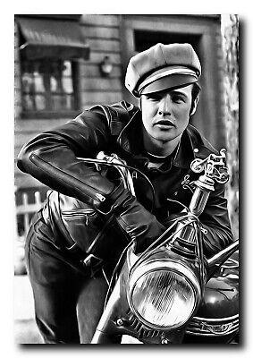 "Photo Print 13x19/"" Marlon Brando The Wild One"