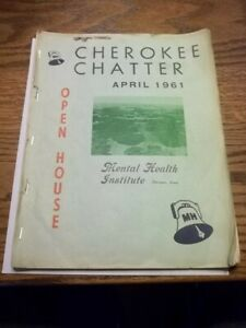 1961 April Cherokee Chatter Open House Mental Health Institute MHI Booklet Iowa