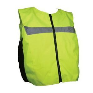 High-Visibility-Vest-Neon-Yellow-Motorcycle-Scooter-Quad-SIZE-S-M-For-Textile