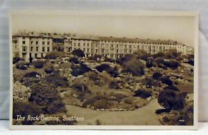 Southsea  VINTAGE  RP Postcard The Rock Gardens