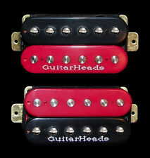 Guitar Pickups - GUITARHEADS ZBUCKER HUMBUCKER - SET 2 - BLACK & RED ZEBRA