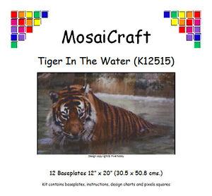 MosaiCraft-Pixel-Craft-Mosaic-Kit-039-Tiger-In-The-Water-039-Pixelhobby