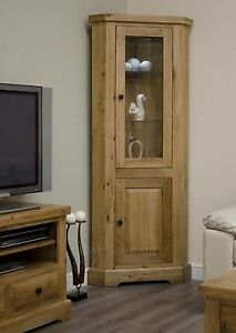 Regent-solid-oak-furniture-glazed-corner-display-cabinet-unit
