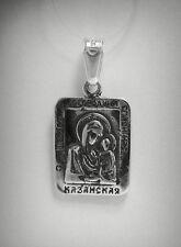 Pendente Argento Sterling Solid 925 Ortodossa Mamma of God PE000838 EMPRESS
