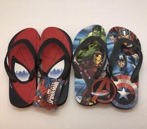 Toddler ULTIMATE SPIDER-MAN Flip Flops Sandals By MARVEL SIZE 5//6 new nwt