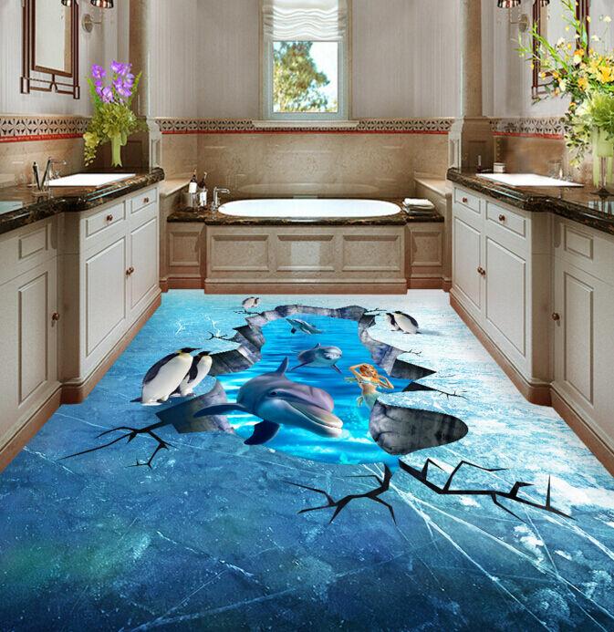 3D animale congelare Pavimento Foto Wallpaper Murales Muro Stampa Decalcomania