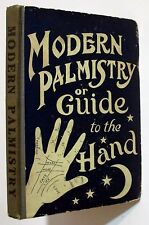 Antique 1901 MODERN PALMISTRY Gypsy Fortune Telling Occult Chiromancy Book