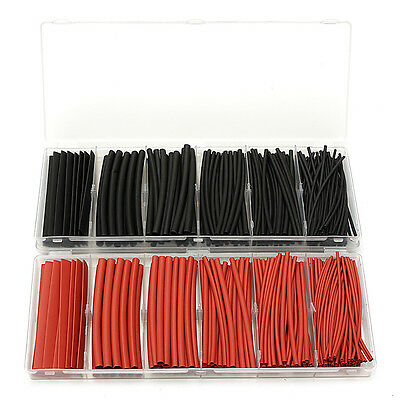 160Pcs 2:1 Termoretractil Tubo Heat Shrink Tube Sleeve 1.5/2.5/3.0/4.5/6.0/9.0mm