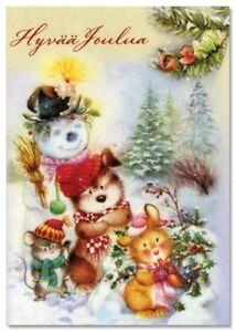 Lisi MARTIN~ BUNNY Rabbit push Mouse Mice Letter Post New Modern KIDS postcard