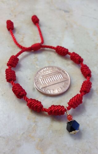 Red Bracelet For Baby Adjustable Protection With Azabache