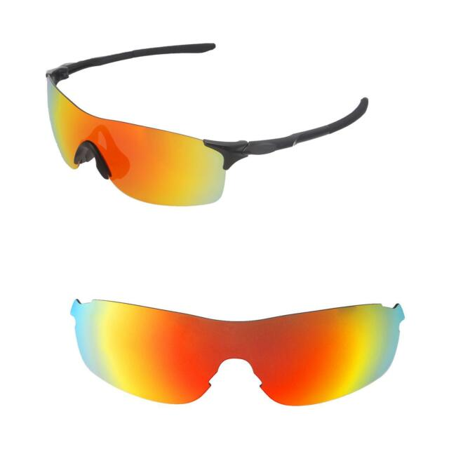 fed51cadcd Walleva Fire Red Polarized Replacement Lenses For Oakley EVZero Pitch