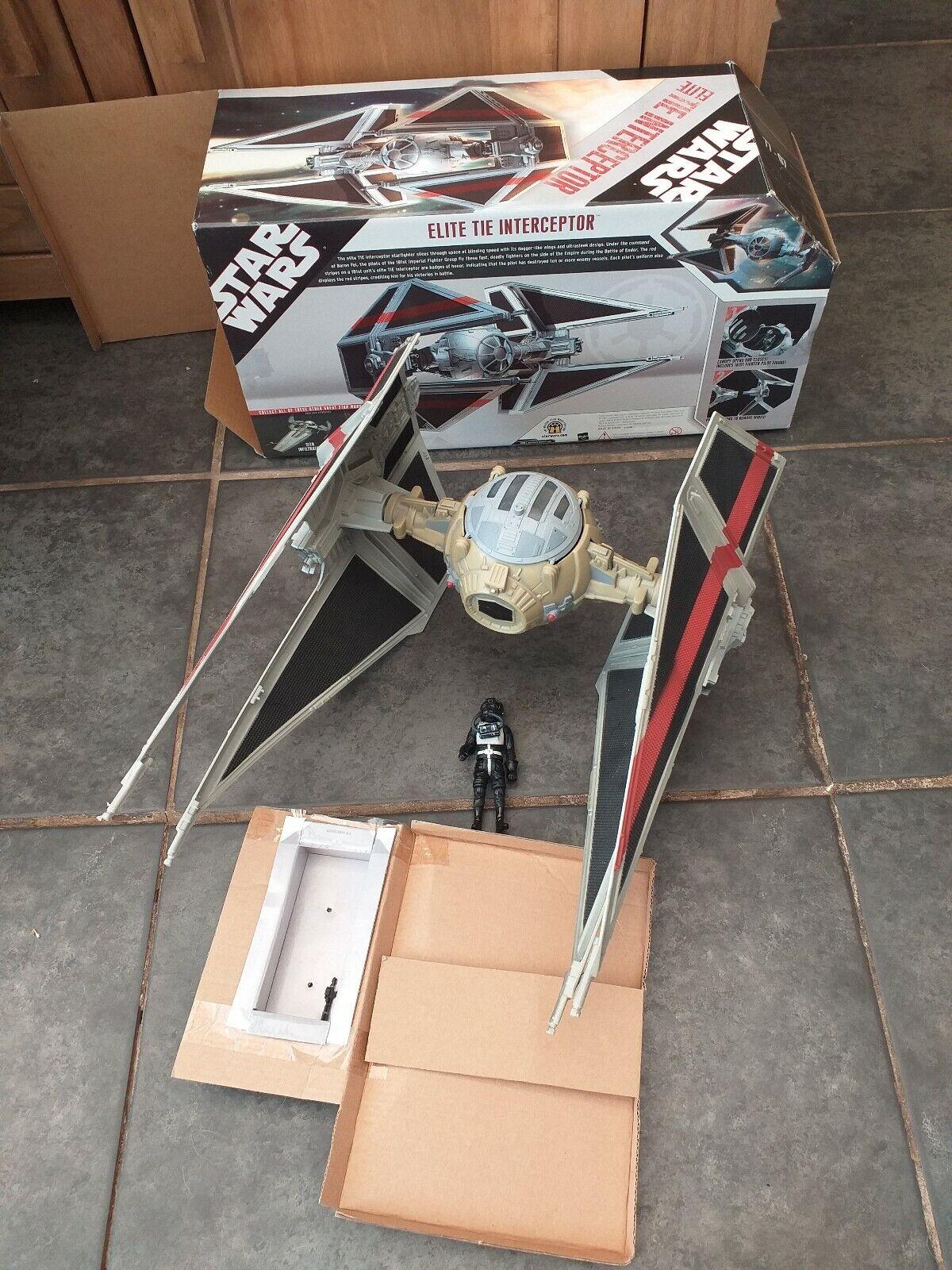 Boxed Hasbro Star Wars 30th Anniversary Exclusive Elite TIE INTERCEPTOR Vehicle
