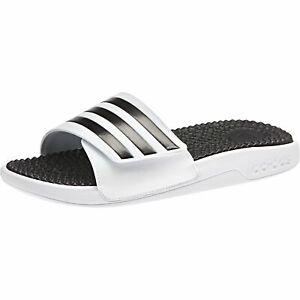 Rechazo granero lona  Adidas Adilette Adissage Tnd Beach Sandals Slippers Massage F35563 White  Black | eBay