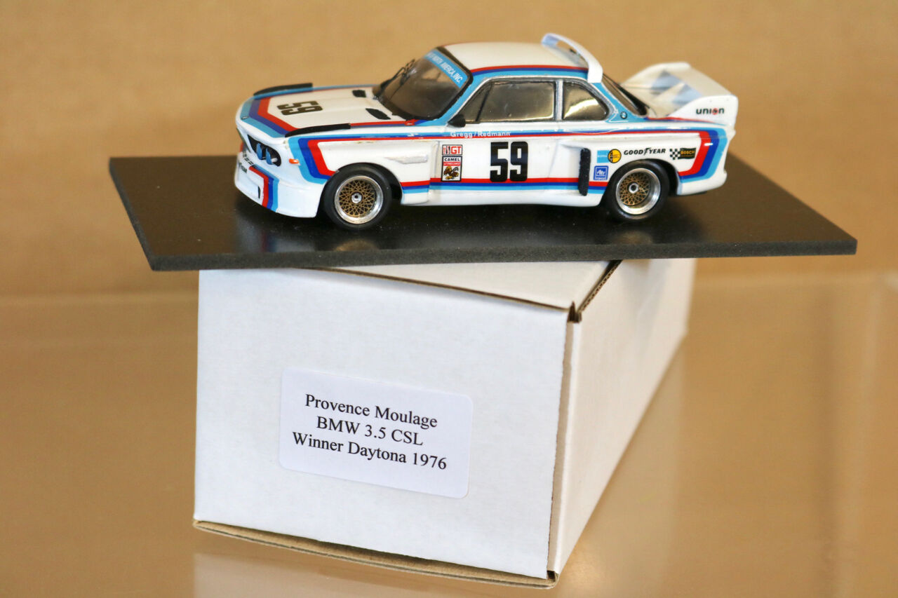 PROVENCE MOULAGE DAYTONA 1976 1st PLACE BMW 3.5 CSL CAR 59 GREGG rotMANN ng