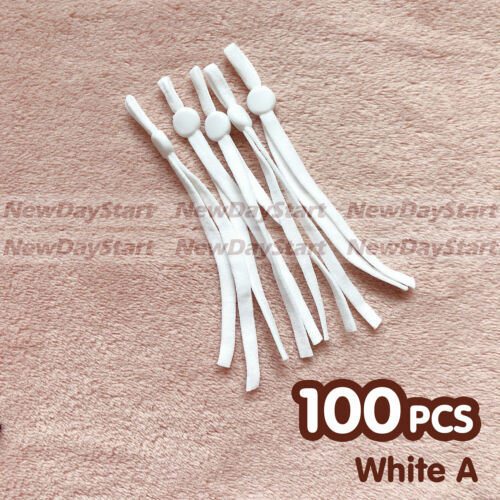 Black//White 100pieces DIY Sewing Elastic Band Cord Adjustment Buckle Adjustable
