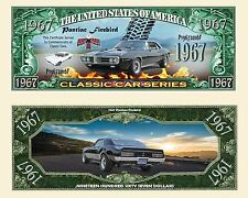 PONTIAC FIREBIRD -  BILLET MILLION DOLLARS US! Collection Voiture Sport Car 1967