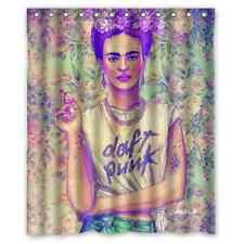 Custom Frida Kahlo Art Waterproof Fabric Bath Shower Curtain 60x72 Inch