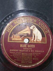 JOHNNY-MARVIN-ED-SMALLE-GENE-AUSTIN-tenor-english-piano-78-RPM-RECORD-INDIA-VG