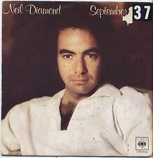 """NEIL DIAMOND - September morn - VINYL 7"""" 45 ITALY 1979 VG+ COVER VG- CONDITION"""