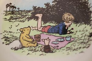 Reed-amp-Barton-Christopher-Robin-Winnie-the-Pooh-Bowl-Walt-Disney-AA-Milne-Bees