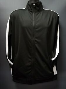 aa220cac0 Details about Men's Rebel Minds Full Zip Black with White Stripe Track  Jacket - Black