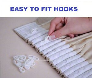 Image Is Loading Nylon Curtain White Hooks Plastic For Curtains With
