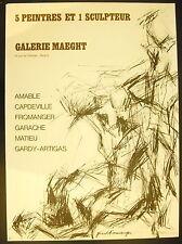 Affiche exposition Amable Capdeville Fromanger Garache Matieu Gardy-Artigas