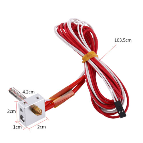 1.75mm MK8 0.4mm Nozzle Print Head Hot End Assembled for Extruder 3D Printer gd