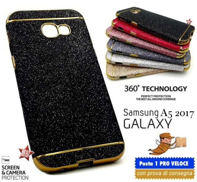 COVER CUSTODIA CASE TPU DIAMOND LUXURY GLITTER STRASS per SAMSUNG GALAXY A5 2017