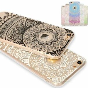 9dcb5cfd1b4 Image is loading HENNA-Flower-Paisley-Tribal-Transparent-Cover-Phone-Case-