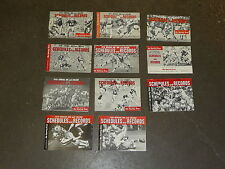 11 diff SPORTING NEWS FOOTBALL NFL AFL COLLEGE SCHEDULE AND RECORD BOOKS 1970-
