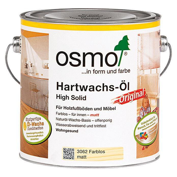 OSMO 3062 Hartwachs Öl Farblos Matt 2,5 Liter