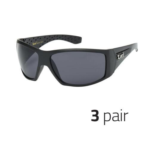 3x Large OG Real Locs Sunglasses Dark Gangster Shades Men Loc Glasses Black