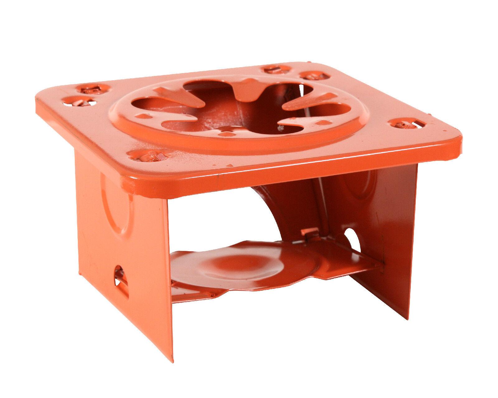 Single burner folding stove camping safe and compact orange redhco 365
