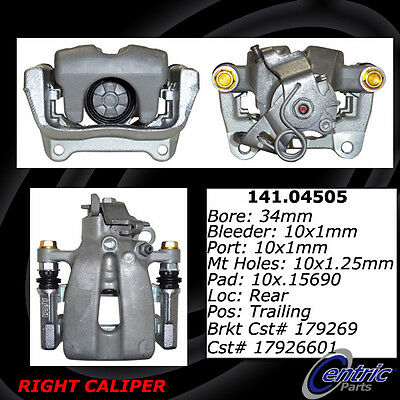 Centric Parts 141.04505 Rear Right Rebuilt Brake Caliper With Hardware