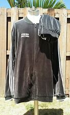 ADIDAS Black Striped Velour suit Jacket Pants SETON HALL Men 3XL 3X Velvet fila
