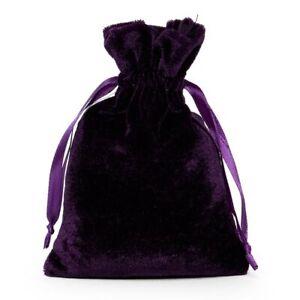 """Velvet pouch 6"""" x 9"""" Black Pouch, Purple Pouch, Navy Blue Pouch, Tarot Pouch"""