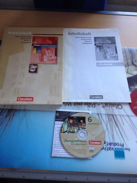FOKUS MATHEMATIK Klasse 6.Gymnasium MIT EINGELEGTEN LöSUNGEN UND CD-ROM.