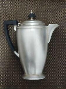Rare Hot water jug British Art Deco Mappin & Webb Silver Plate Tea Set c.1930