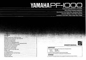 yamaha pf 1000 turntable owners manual ebay rh ebay co uk manual golf green mower manual golf ball striper