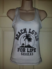 "NWT BillaBong Womens Tank Top ""Beach Lover For Life Shakas"" Sz.S $36"