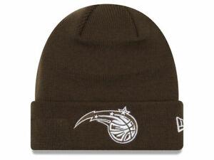 ORLANDO-MAGIC-NBA-VINTAGE-CUFFED-KNIT-BEANIE-WINTER-BROWN-CAP-HAT-NWT-NEW-ERA