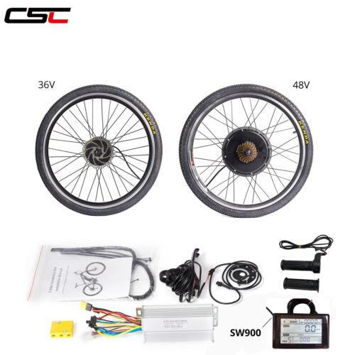 36V 48V Electric Bicycle Motor Kit  20 24 26 inch E Bike Motor LCD Meter