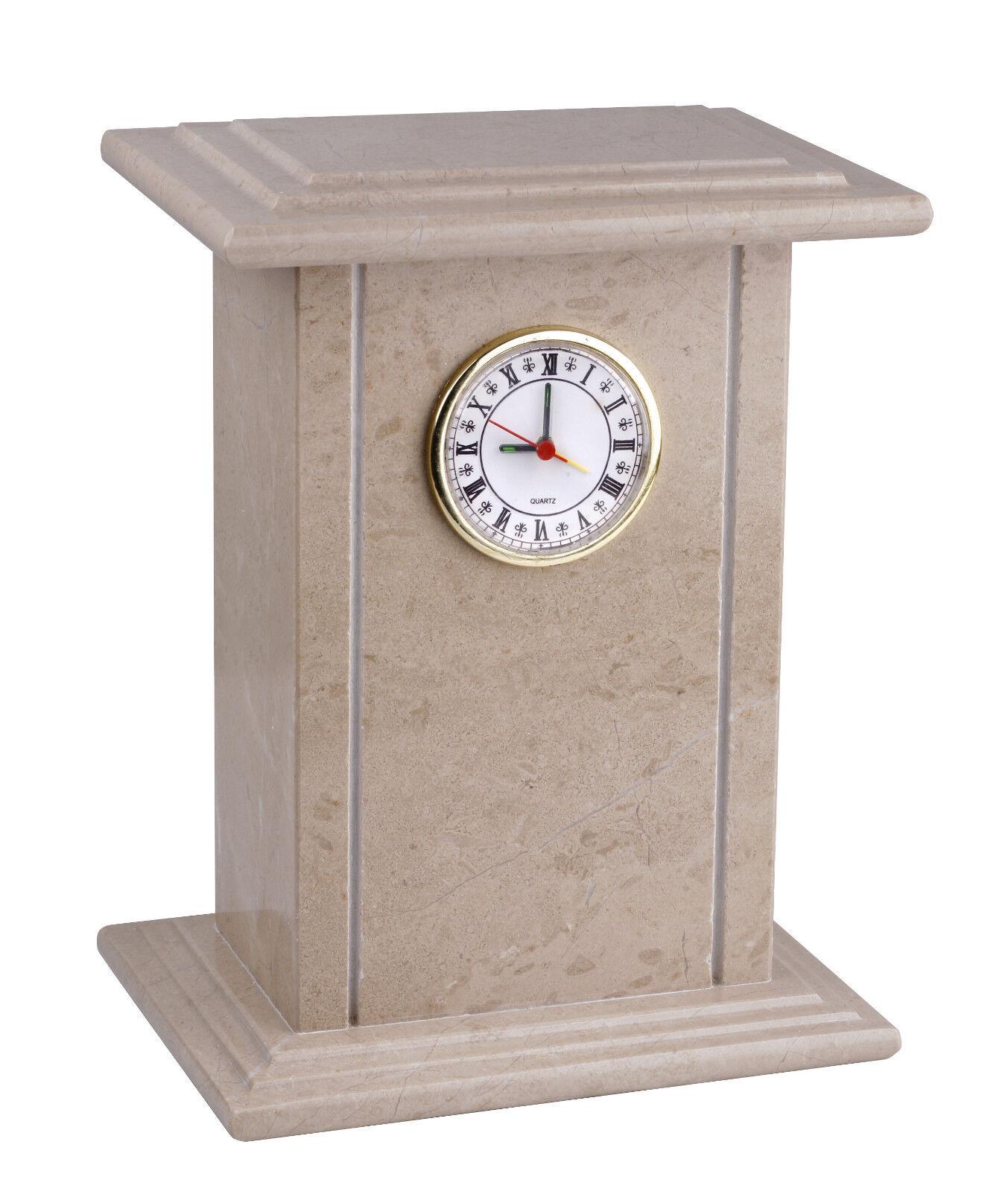 Único reloj Genuino Natural Mármol Ataúd Cremation Ashes Urna para adultos (st-8