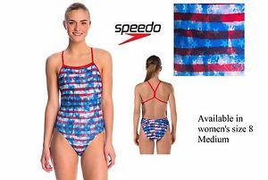Speedo women s size 8 Stars Stripes 4th of July one-piece swim ... 50cc91666