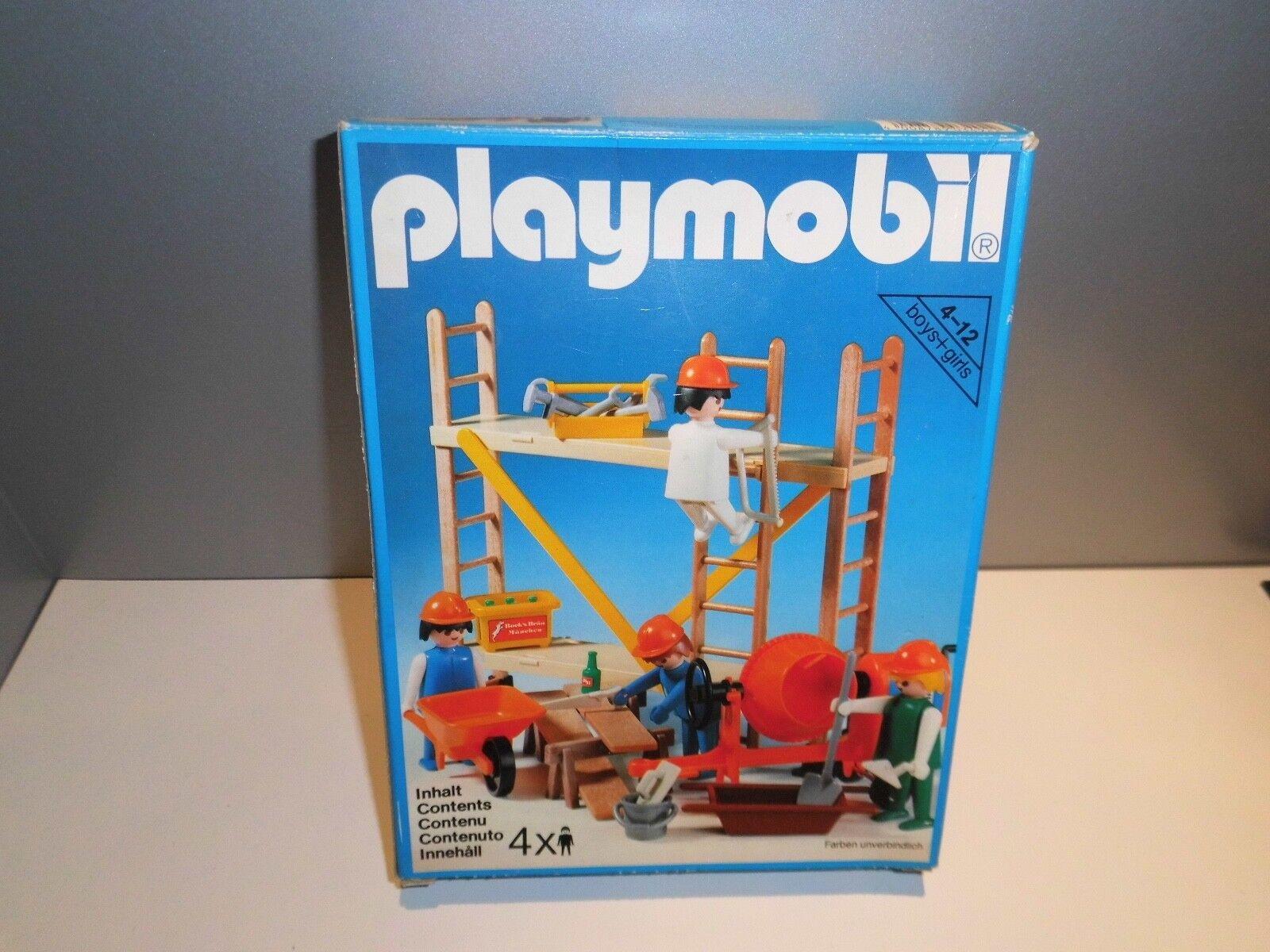 Playmobil Klicky Baustelle 3492 Gerüst Baugerüst Baustelle OVP Komplett
