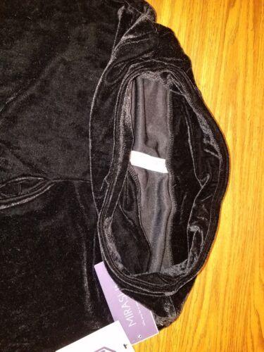 NWT $65 MIRASLIM By Miraclesuit Black Velvet Velour Hi Waisted Women/'s Leggings
