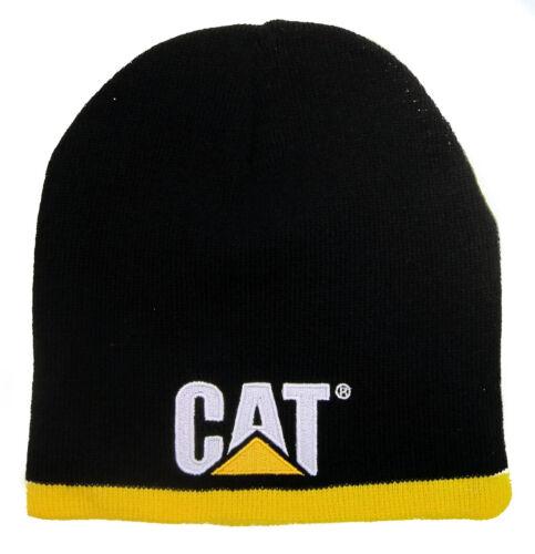 Caterpillar CAT Equipment Black /& Yellow Winter Beanie Embroidered Patch Cap